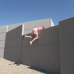 Pink wall jumper