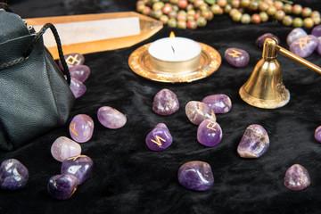 Magic runes of stone