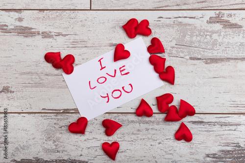 "valentine day note with words i love you"" stock photo and royalty, Ideas"