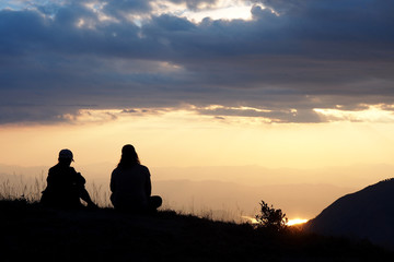 Sunset view on Mountain