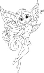 cute fairy with wings.