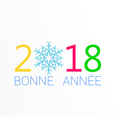 2018 - Bonne année neige - happy new year snowflake