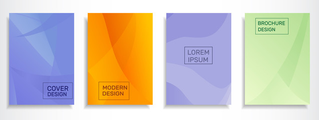 Set of colorful abstract covers design. A4 format template , applicable for brochure, placards, posters, banner design