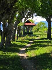 Indonesia. Playa en Sumbawa, isla que pertenece al grupo de las islas menores de la Sonda. Se encuentra entre las islas indonesias de Flores, al este, y Lombok al oeste