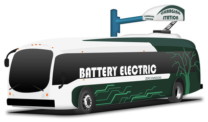 Electric zero emissions bus - charging station