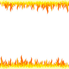 Fire frame - white background