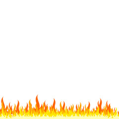 Fire frame - white background