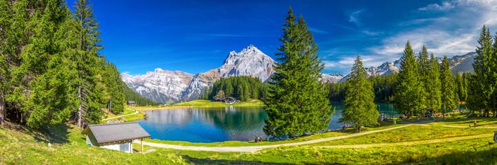 Fotobehang Alpen Arnisee lake in Swiss Alps, Canton of Uri, Switzerland