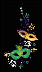 Karneval Masken Fleur De Lis Fleur de Lys Perlen Mardi Gras Blumen