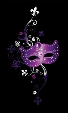 Karneval Maske Fleur De Lis Fleur de Lys Mardi Gras Fasching Blumen