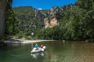 Canoë dans les Gorges du Tarn , en Lozère , France