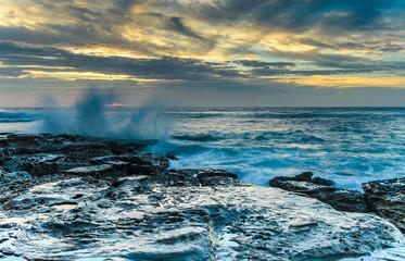 Sunrise Seascape and Splash