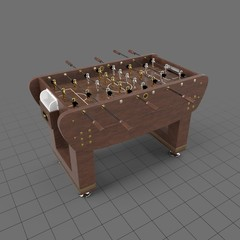 Wood foosball soccer table