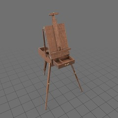 Portable easel with drawer