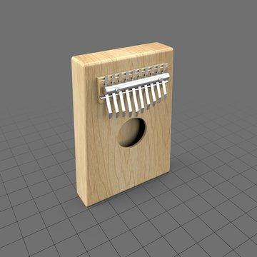 Wood kalimba with metal keys