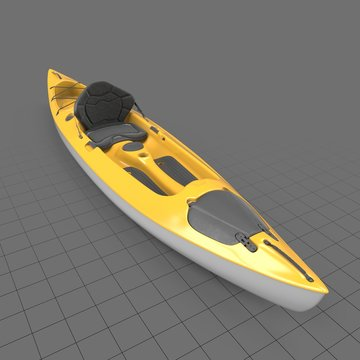 Yellow single person kayak