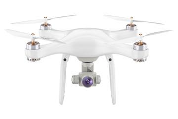 Drone quadrocopter closeup, 3D rendering