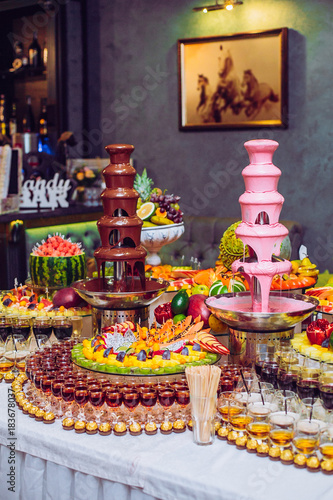 Astonishing Delicious Sweets And Fruits On Candy Buffet Lot Of Colorful Download Free Architecture Designs Embacsunscenecom