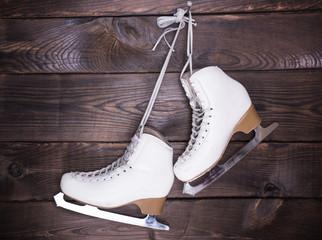 women's white used leather skates