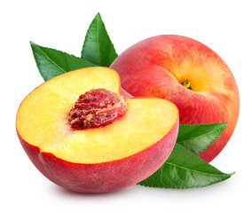 Photo sur Aluminium Fruits Peach fruit slice