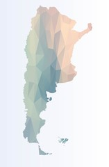 Polygonal map of Argentina