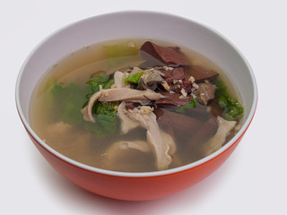 Boiled Pork blood soup.