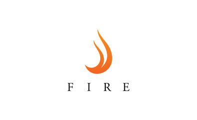 Fire abstract logo