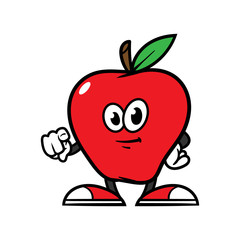 Cartoon Pointing Strawberry Character