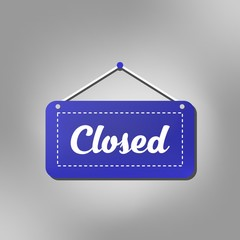 Closed store sign icon vector design for retail shop, market, shop in modern style