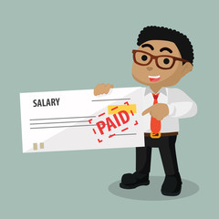 Employers holding salary check