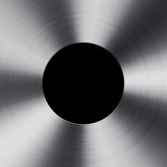 Circle metal texture on black background