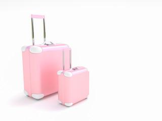 Travel suitcase pastel color