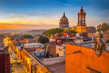 Sunset in San Miguel De Allende, Guanajuato Mexico Papier Peint
