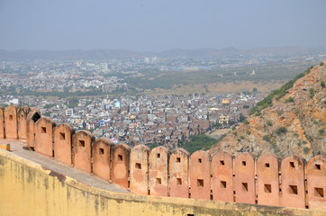architecture of India Jaipur fort Nakhargar view of the city from above