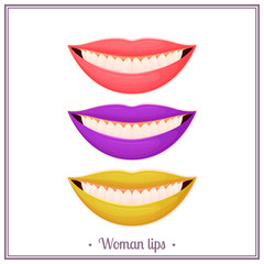 Color Woman Lips