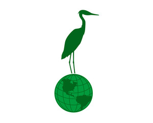 globe stork green