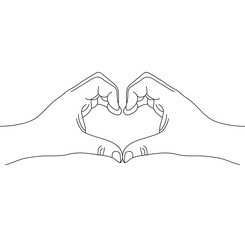 Hand drawn vector with Hand shaped heart
