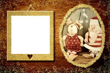 Photo frame Christmas greeting card