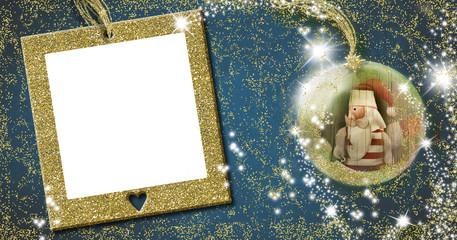 Santa, Christmas frame greeting card