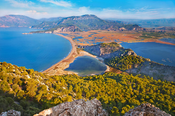Iztuzu beach and Dalyan river delta, Turkey