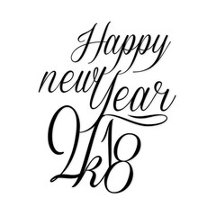 Black and White Happy New Year 2018 Poster Background