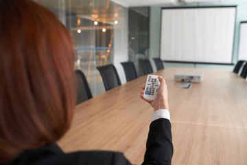 Using projector in meeting room