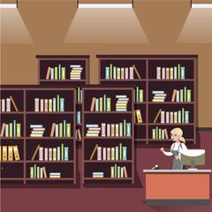 Bookshelf in shop