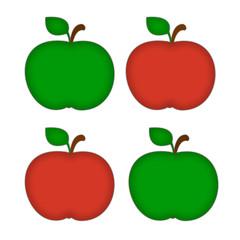 яблоки зеленые и красные