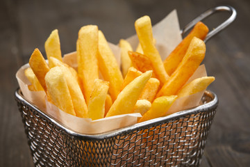 french fries in the basket