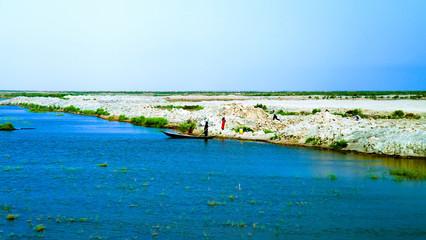 Mesopotamian Marshes, habitat of Marsh Arabs aka Madans Basra Iraq