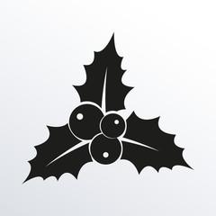 Holly Berry icon. Christmas symbol. Xmas holiday decoration element. Vector illustration.
