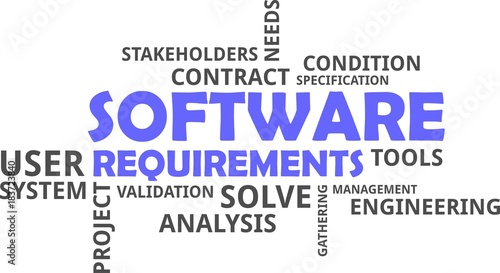 Word Cloud Software Requirements Stock Image And Royaltyfree - Software requirements