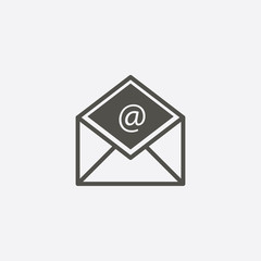 envelope icon. e-mail sign