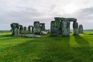 Stonehenge an ancient prehistoric stone monument near Salisbury, Wiltshire, UK. in England